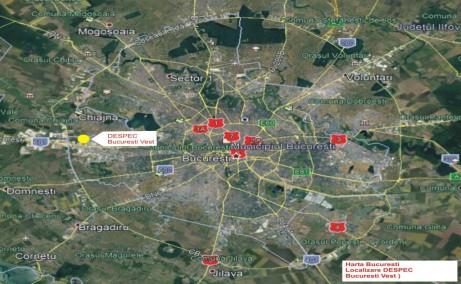 Hala DESPEC – Bucuresti spatii depozitare de inchiriat Bucuresti vest localizare harta