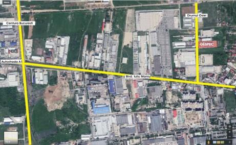 Hala DESPEC – Bucuresti spatii depozitare de inchiriat Bucuresti vest vedere din satelit