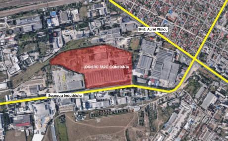 Logistic Park Constanta inchiriere spatii depozitare Constanta vest vedere satelit