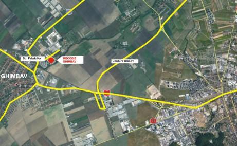 Mecodis inchirieri spatii depozitare si productie Brasov vest localizare harta