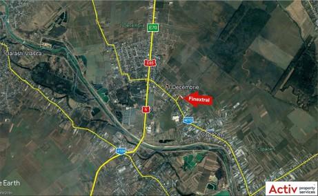 Finextral Copaceni inchirieri hale industriale Bucuresti sud vedere din satelit