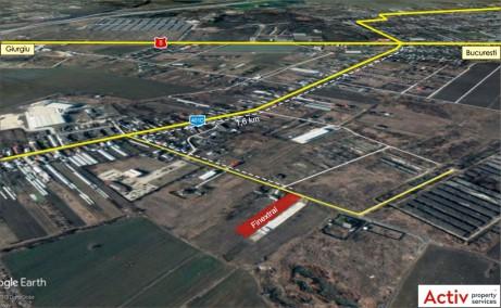 Finextral Copaceni spatiu depozitare Bucuresti sud vedere din satelit zona