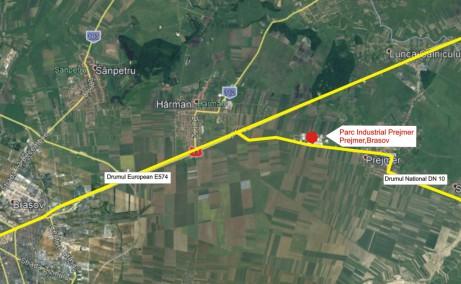 Parcul Industrial Prejmer inchiriere spatiu depozitare Brasov nord est localizare harta