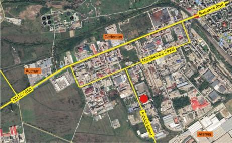 Fabricii 7A hala de inchiriat Baia Mare vest localizare harta