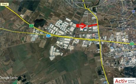 OTTER Distribution inchiriere spatiu depozitare Bucuresti vest localizare proprietate google