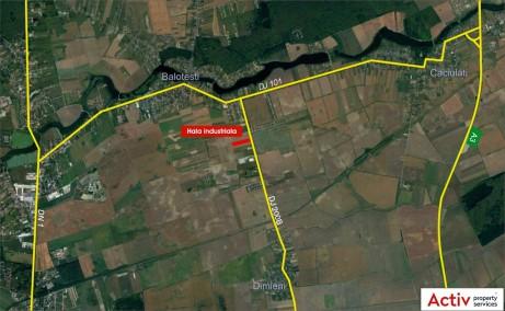 Hala Balotesti depozit de inchiriat Bucuresti nord vedere panoramica