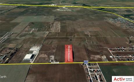 Hala Balotesti depozit de inchiriat Bucuresti nord vedere din satelit