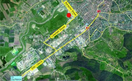 Mapcom Logistik Parc inchirieri parcuri industriale Targu Mures vest  localizare harta