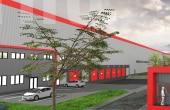 TRC Park Bacau inchiriere spatii depozitare Bacau sud vedere fatada