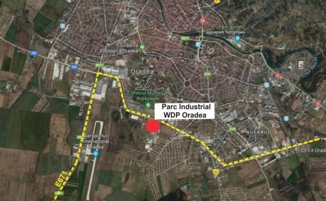 WDP Oradea inchiriere spatii productie si spatii depozitare Oradea sud localizare harta
