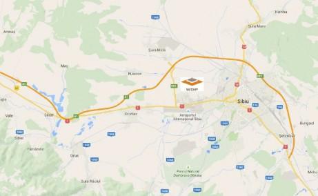 WDP Parc Industrial Sibiu inchiriere parcuri industriale Sibiu Vest localizare harta