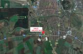 ARCVIA Sud Arad vanzare proprietati industriale Arad sud localizare harta