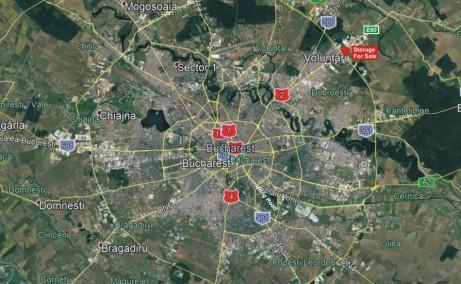 Hala moderna in Afumati spatiu depozitare Bucuresti nord est localizare harta