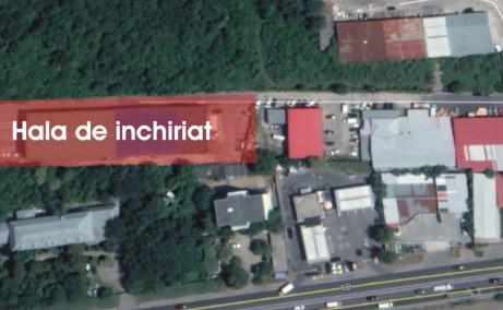 Hala de vanzare Soseaua de Centura Bucuresti 2-4 hale industriale de vanzare Bucuresti nord-est vedere din satelit