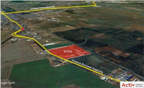 ELI Park 1 Chitila inchiriere spatiu de depozitare Bucuresti nord-vest vedere din satelit