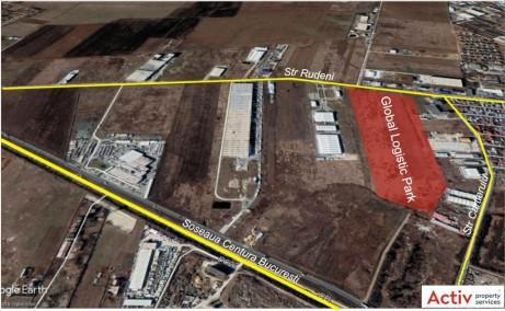 Global Logistic Park inchirieri parcuri logistice Bucuresti nord- vest vedere din satelit