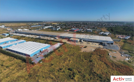 Global Logistic Park inchiriere hala Bucuresti nord- vest vedere de acces parc logistic