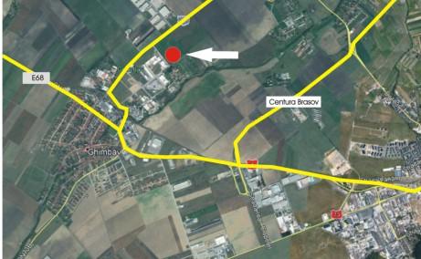 Rap Invest Industrial Park hale de inchiriat in Ghimbav, zona de vest Brasov, la 1.5 km de DN1, vedere de ansamblu din satelit