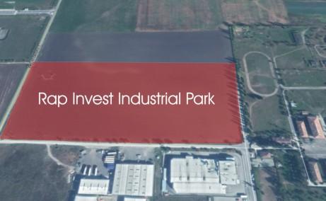 Rap Invest Industrial Park hale de inchiriat in Ghimbav, zona de vest Brasov, la 1.5 km de DN1, vedere proprietate din satelit