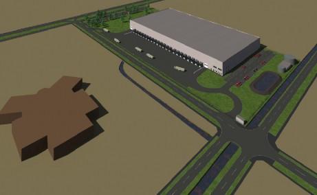 Hala Industriala Giarmata  inchirieri proprietati industriale Timisoara nord-est vedere ansamblu