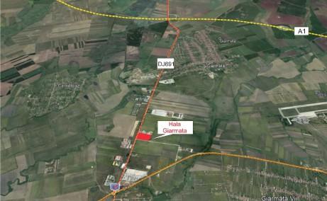 Hala Industriala Giarmata  inchirieri proprietati industriale Timisoara nord-est localizare harta Timisoara