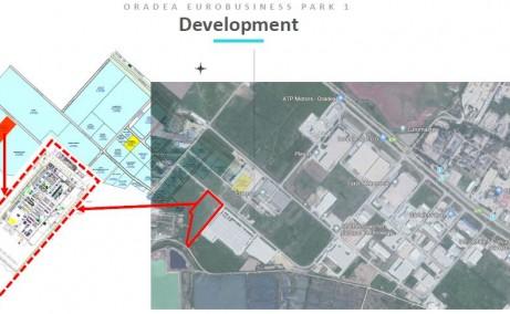 Oradea Euro Business Park 1 inchirieri parcuri industriale Oradea nord-vest vedere satelit