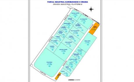 Oradea Euro Business Park 1 inchirieri parcuri industriale Oradea nord-vest plan parc