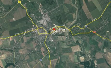 Rompak Pascani inchiriere spatiu depozitare Pascani nord localizare harta