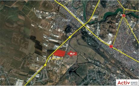 MLP Chitila Bucuresti inchiriere parcuri logistice Bucuresti nord-vest localizare vedere panoramica