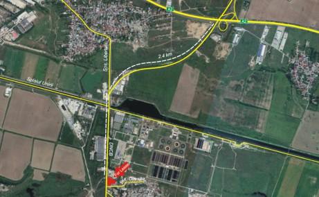 Hala EuroBusiness II inchiriere spatiu depozitare Bucuresti est vedere din satelit