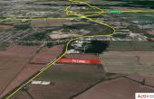 Ecom Logistic Center inchiriere spatiu depozitare zona de sud-est a municipiului Bucuresti, Popesti-Leordeni, vedere satelit