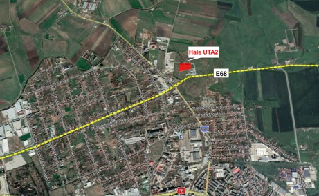 Parc Industrial UTA 2 hale de vanzare Hale de vanzare in Parcul Industrial UTA 2 in nordul municipiului Arad, harta