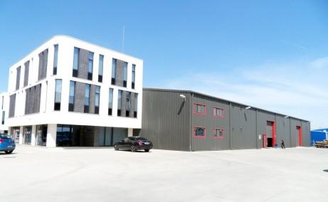Hala Oxigenului inchiriere spatiu depozitare inchiriat Bucuresti est vedere cladire birouri si hala industriala
