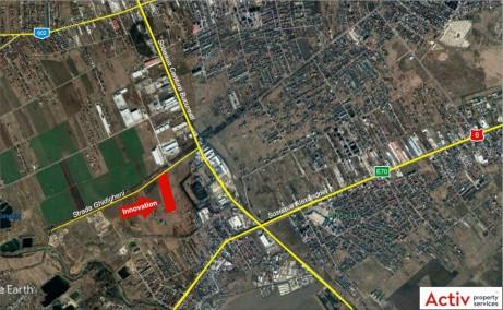 Innovations Park inchiriere spatiu depozitare Bucuresti sud-vest localizare google