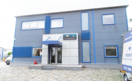 Hala MobVip inchiriere proprietati industriale Bucuresti est vedere fatada