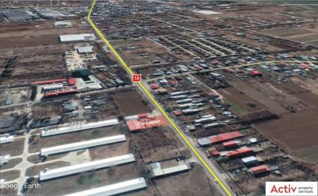 Hala Manastirea inchiriere proprietati industriale Bucuresti nord-vest vedere satelit