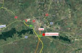 Hale arad inchiriere proprietati industriale Arad sud  vedere din satelit