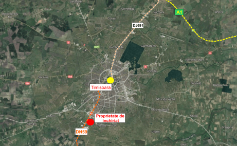 Showroom de inchiriat inchiriere proprietati industriale Timisoara sud localizare zona google