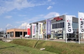 Showroom de inchiriat inchiriere proprietati industriale Timisoara sud vedere lateral stanga