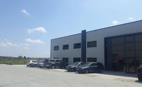 Hala moderna de inchiriat - Magurele inchiriere proprietati industriale Bucuresti sud-vest vedere lateral fatada