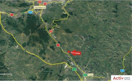 Hala Tureni inchirieri hale Cluj vedere din satelit localizare