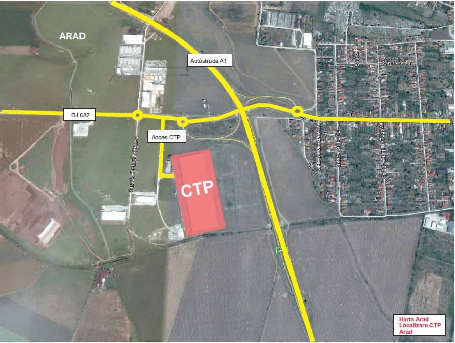 Ctp Arad A Park With Industrial Space For Rent Near The Highway