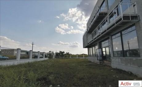 Hala moderna Magurele inchiriere spatiu depozitare bucuresti Sud-vest vedere laterala