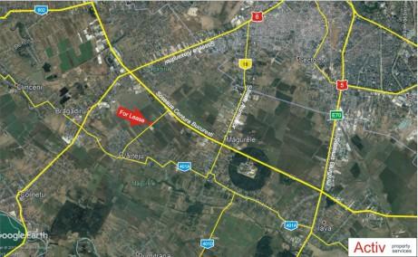 Hala moderna Magurele inchiriere spatiu depozitare bucuresti Sud-vest localizare din satelit