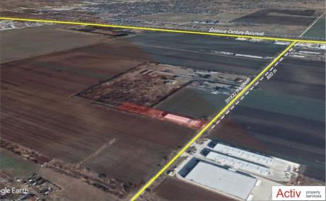 Hala moderna Magurele inchiriere spatiu depozitarebucuresti Sud-vest vedere din satelit amplasare