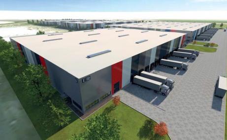 VGP Industrial Park Brasov  inchirieri spatii depozitare Brasov est vedere fatada constructii