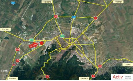 VGP Industrial Park Brasov  inchirieri spatii depozitare Brasov est localizare harta
