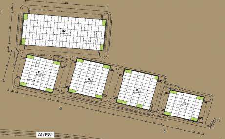 VGP Industrial Park Sibiu  inchirieri spatii depozitare Sibiu plan cladire