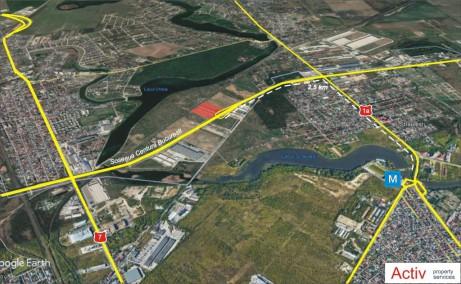 LIFTCON Mogosoaia inchiriere spatii depozitare / productie Bucuresti nord-vest vedere localizare detaliu