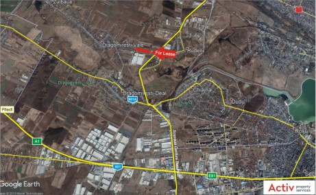 P3 Logistic Park Chitila inchiriere spatii depozitare / productie Bucuresti nord-vest localizare harta